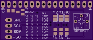 I2C LCD adapter - bottom view